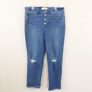 Maurices High Rise Distressed Boyfriend Jeans 33